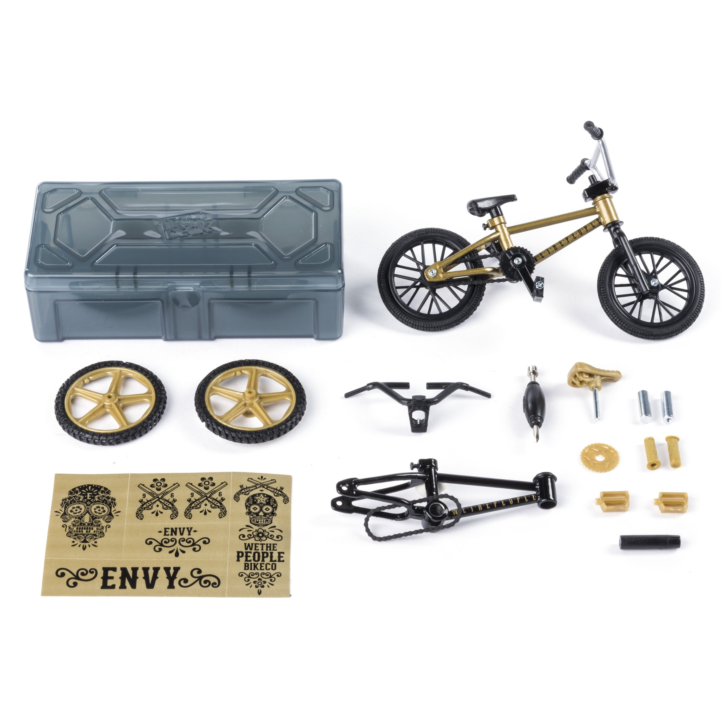 Tech Deck – BMX Bike Shop with Accessories and Storage Container – WeThePeople Bikes – Gold & Black