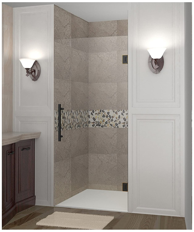 Aston Cascadia Completely Frameless Hinged Shower Door, 34\