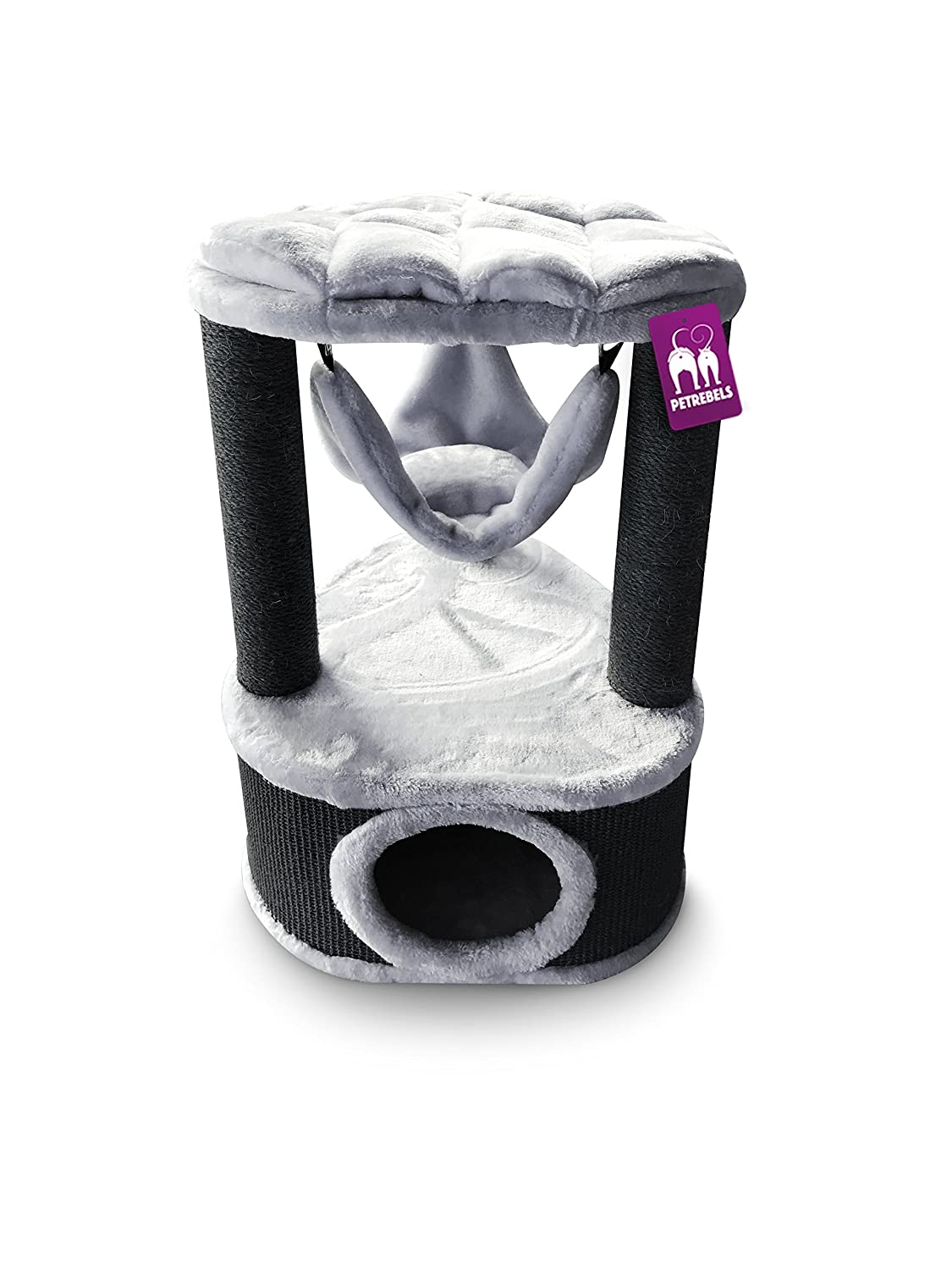 PetRebels Cat tree Kings & Queens Catharina 80 Royal Grey