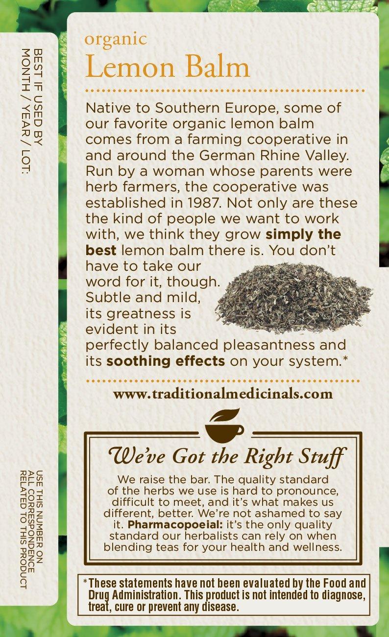 Traditional Medicinals Organic Lemon Balm Tea, 16 Tea Bags (Pack of1) by Traditional Medicinals (Image #5)