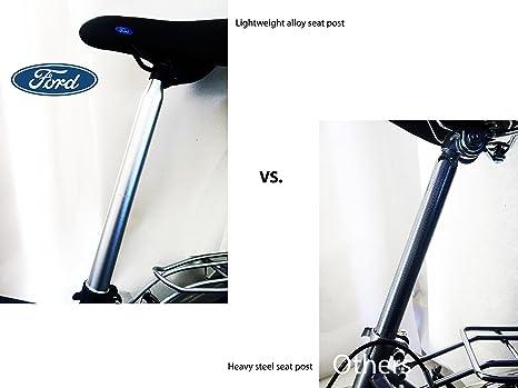 Ford by Dahon C-MAX Bicicleta Plegable de 7 velocidades, 20 Pulgadas, Gris: Amazon.es: Deportes y aire libre