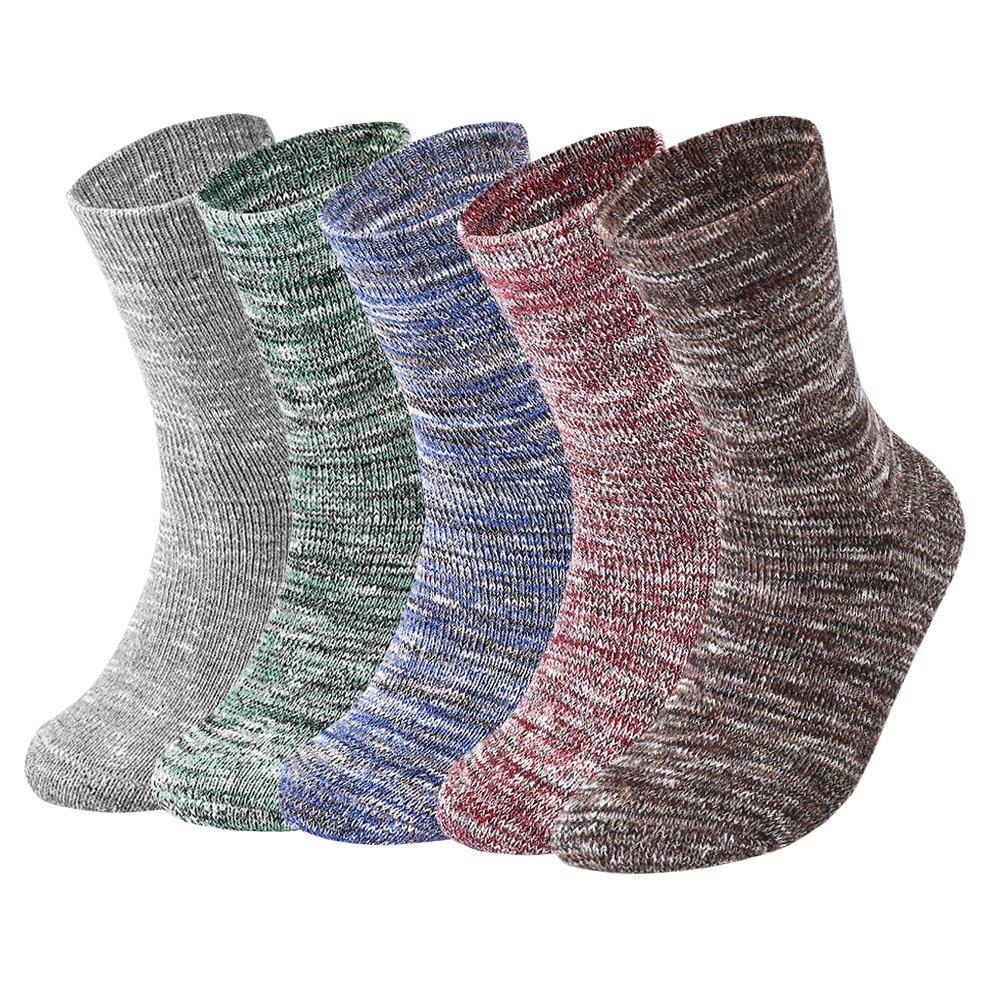 VBIGER 3-5 pares Hombres Calcetines De Algodón Calientes Invierno Calcetines Deportivos para Correr Escalar