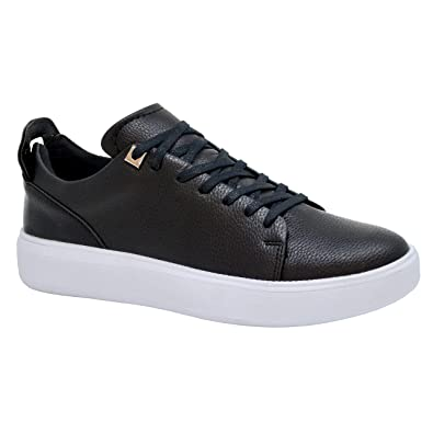 mens white trainers leather online