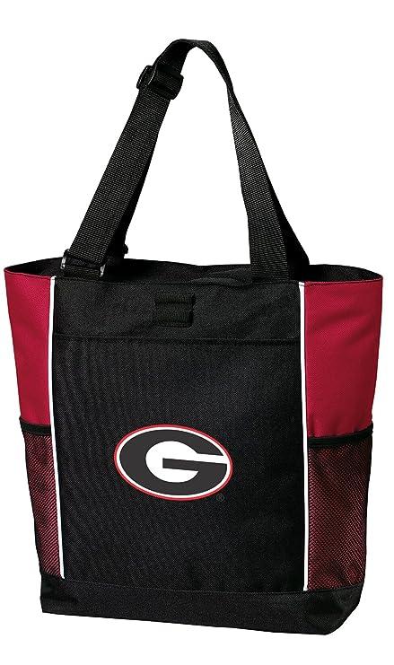 Amazon.com: Universidad de Georgia bolsa Bolsas Rojo Georgia ...