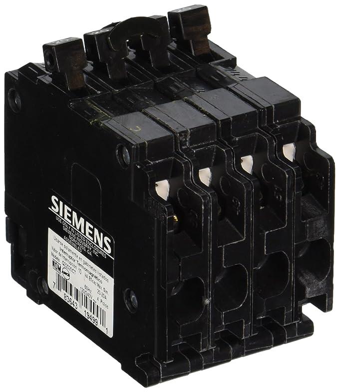 Siemens Q22020CT Triple Circuit Breaker, Plug-In, 20/20 Amps