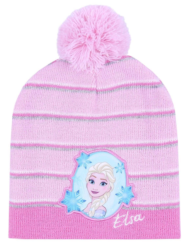 Gorro Caliente de Color Rosa Elsa El Reino del Hielo Disney