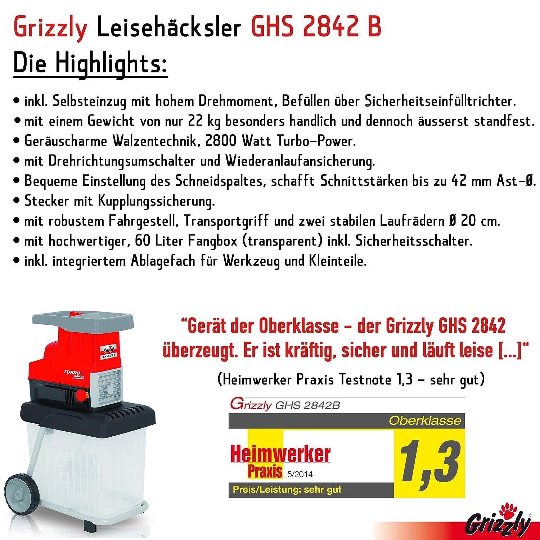Grizzly leisehäcksler GHS 2842 B, Eléctrico rodillo häcksler ...