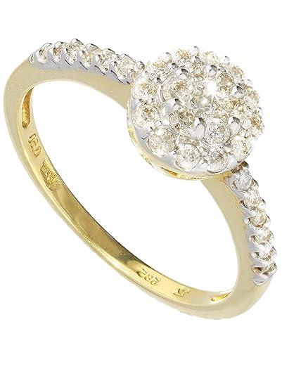 9024998f4ad3 MyGold Mujer 14 k (585) oro amarillo 14 quilates (585) corte brillante  redondo blanco diamante  Amazon.es  Joyería