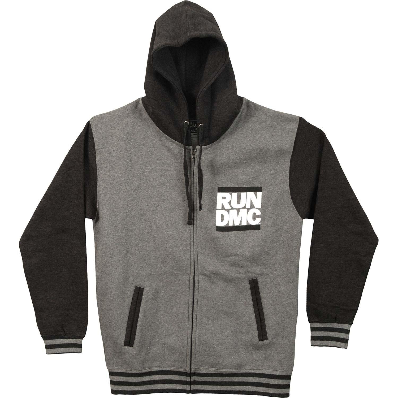 Run DMC Men's Logo Varsity Jacket XX-Large Grey by Unknown
