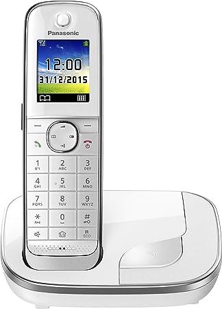 Oferta amazon: Panasonic KX-TGJ310SPW- Teléfono fijo inalámbrico (LCD color, agenda de 250 números, bloqueo de llamadas, modo ECO Plus, modo No Molestar), color blanco