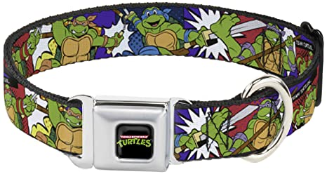 Amazon.com : Dog Collar Seatbelt Buckle Ninja Turtles Action ...