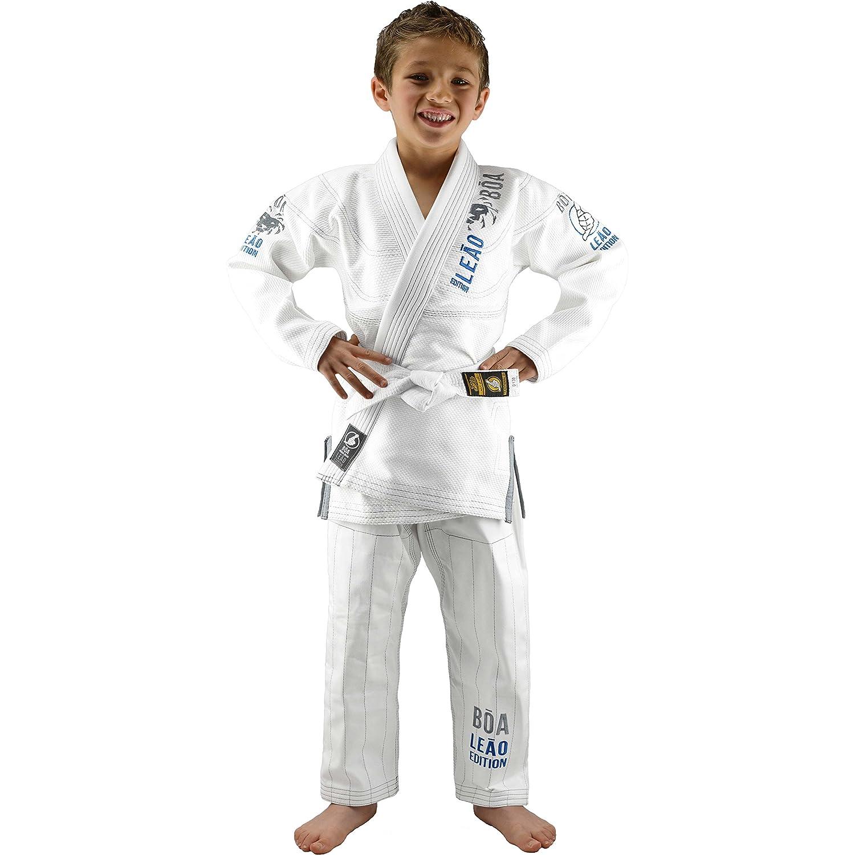 Bõa Bjj Gi Kimono Leão 2.0 Bianco Bambino