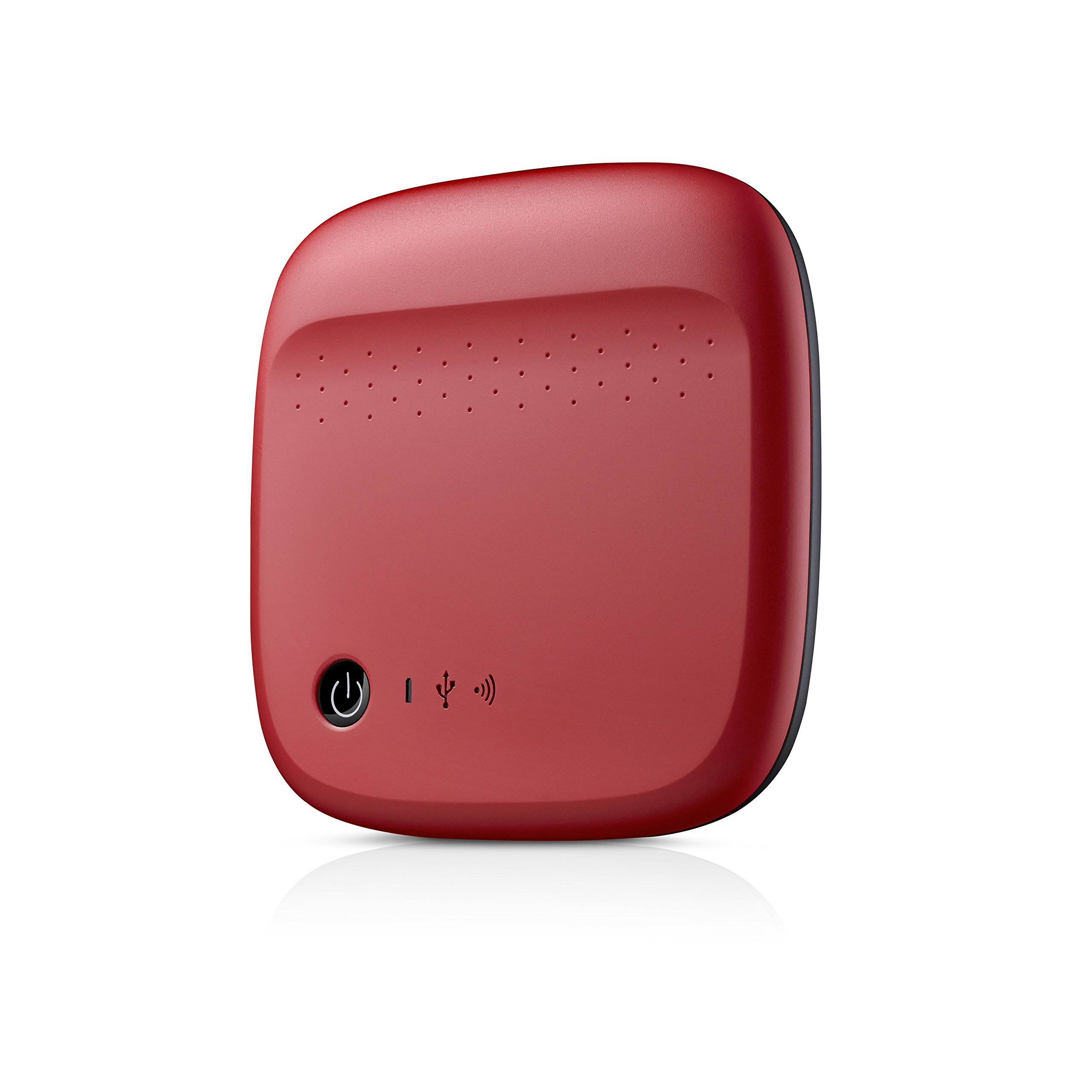 Seagate Wireless Mobile Portable Hard Drive Storage 500GB STDC500402 (Red)