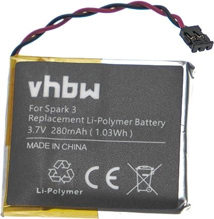vhbw Batterie remplace Tomtom 6027A0106801 pour syst/ème de Navigation GPS 1100mAh, 3,7V, Li-ION