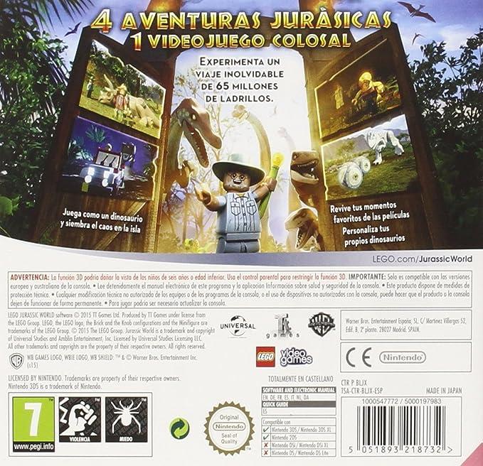 LEGO: Jurassic World: nintendo 3ds: Amazon.es: Videojuegos