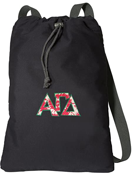 Image Unavailable. Image not available for. Color  Broad Bay Alpha Gamma  Delta Drawstring Backpack Rich Canvas AGD Sorority Cinch Bag 96b277de3d