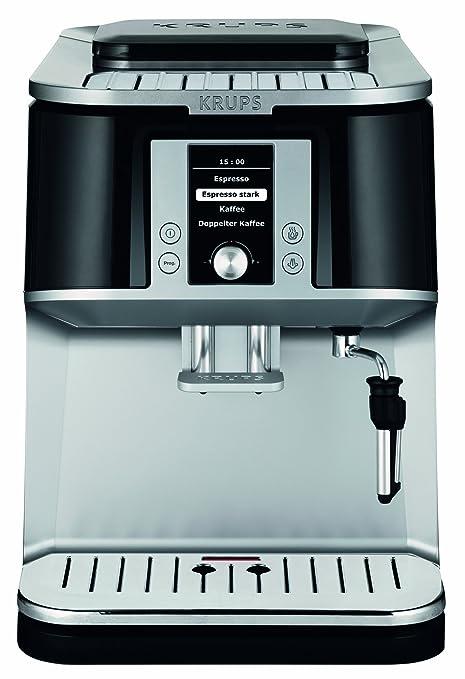 Krups EA8320 - Máquina de café expreso, color plateado y negro