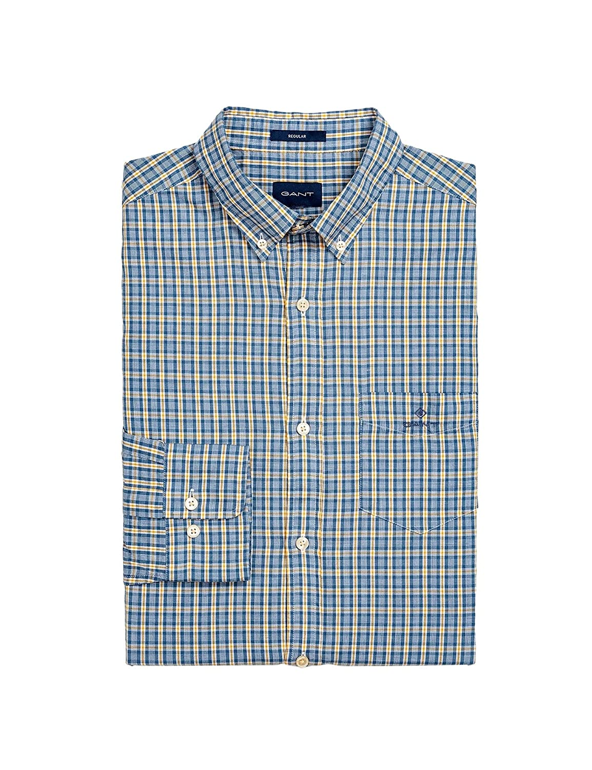 710 Ivy or M Gant Hommes's Check Regular Fit Oxford Shirt