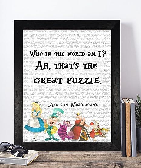 vintage alice in wonderland disney quotes unframed print poster