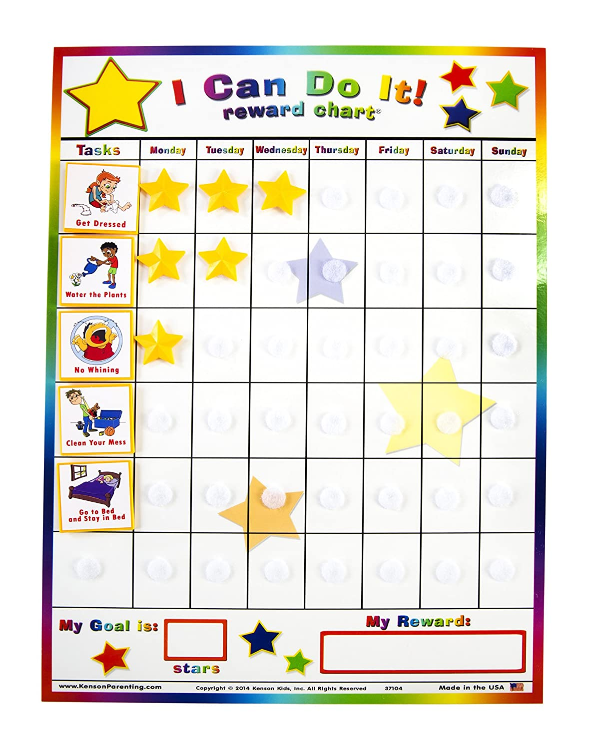 Kenson Kids I Can Do It Reward And Responsibility Plant Diagram For Displaying 16 Images Chart 11 X 155 Inch Office Products