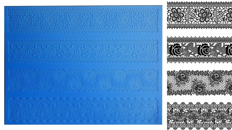 Versailles SLM026 Empire Cake Silicone Lace Mat Edible Sugar Mold - Extra Large Artdecosilver SLM-026
