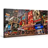 Large Canvas Print Wall Art – MUSICAL BROADWAY – 40x20 Inch New York Cityscape Canvas Picture Stretched On A Wooden Frame – Giclee Canvas Printing – Hanging Wall Deco Picture / e6120