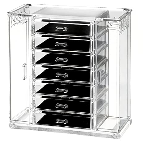 Amazoncom Sagler Clear Acrylic Jewelry Organizer and Makeup