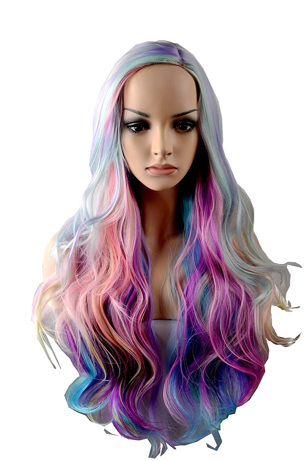 Wigbuy Cosplay 295 Inches Colorful Hair Wigs Ideas Multi Color