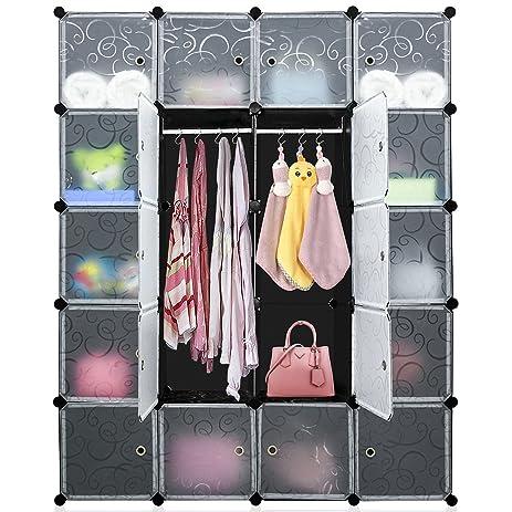DIY Cube Organizer, Multi Use Modular Shelving Storage, Carttiya Closet  Wardrobe With Translucent