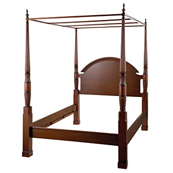 bombay company herning queen 4 poster bed mahogany - 4 Post Bed Frame
