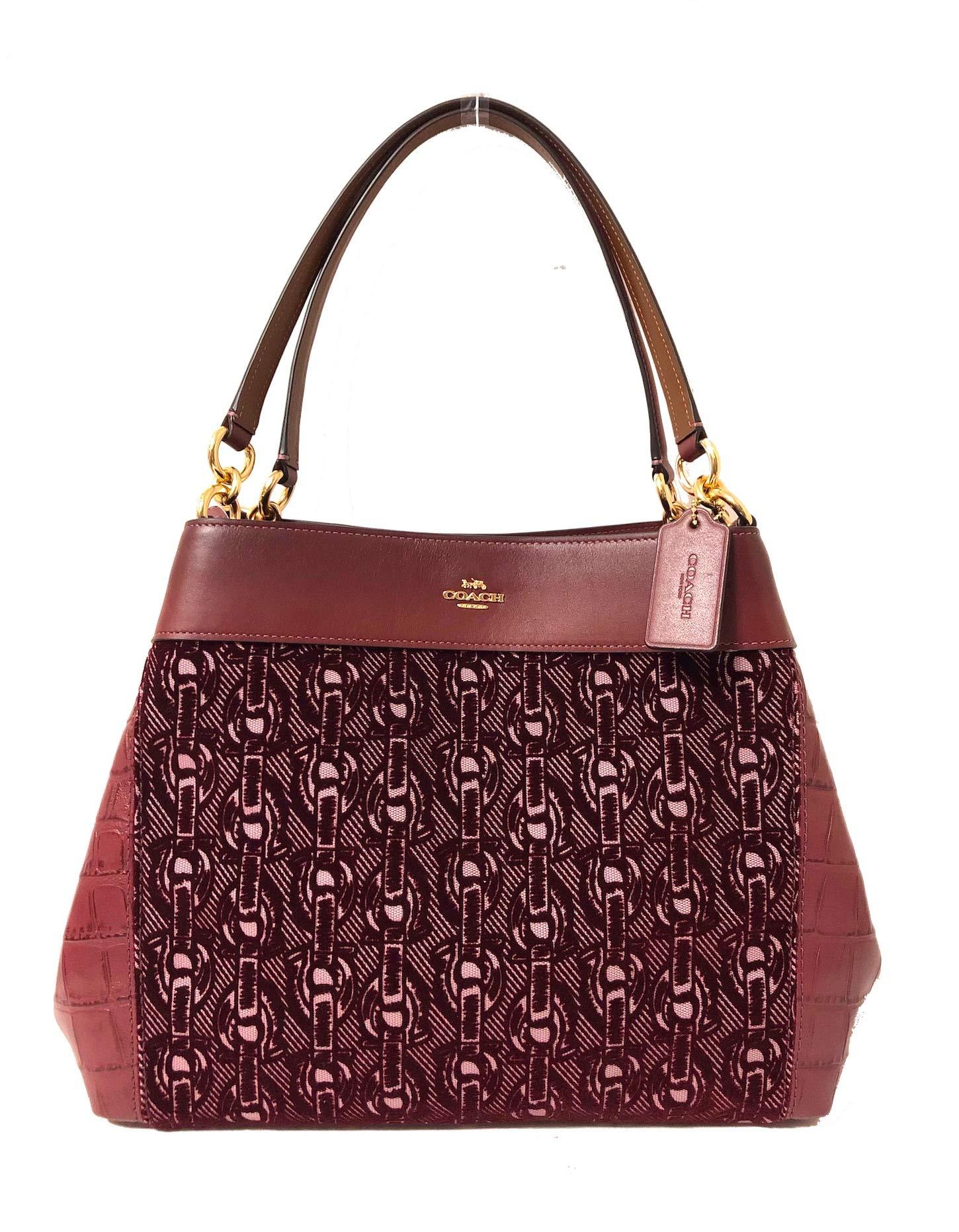 Coach F57545 Lexy Pebble Leather Shoulder Bag (IM/Claret)