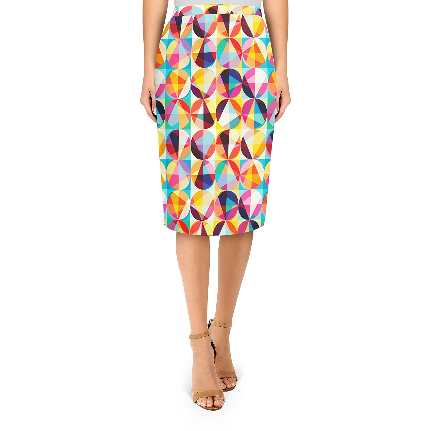 POP Circles Midi Pencil Skirt