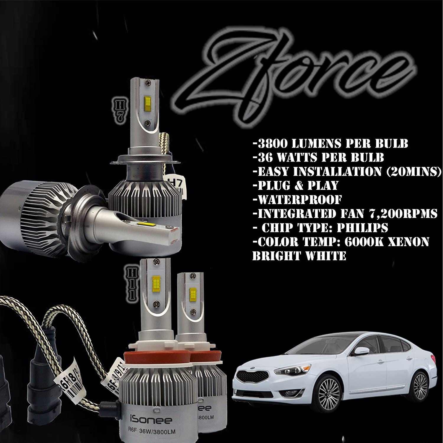 H7 HID Xenon Conversion Bulbs DRL Car Headlights Lamp All Colors Replace Halogen