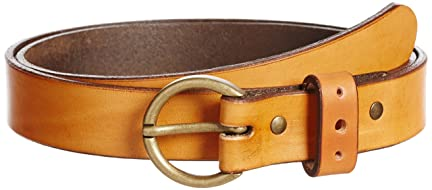 Round Buckle Belt 118-13-1063: Brown
