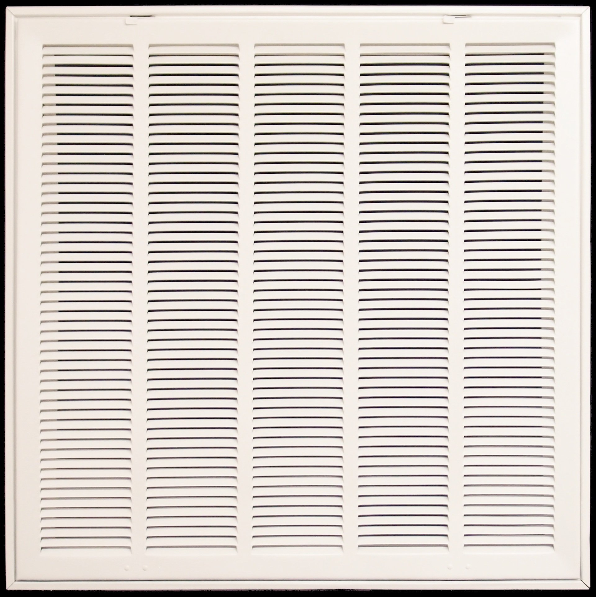 25'' X 20 Steel Return Air Filter Grille for 1'' Filter - Fixed Hinged - ceiling Recommended - HVAC DUCT COVER - Flat Stamped Face - White [Outer Dimensions: 27.5''w X 22.5''h]