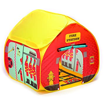 Fun2Give Pop-It-Up Firestation Tent with Streetmap Playmat Playhouse  sc 1 st  Amazon.com & Amazon.com: Fun2Give Pop-It-Up Firestation Tent with Streetmap ...