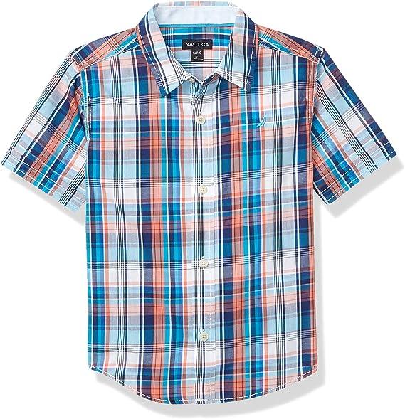 Nautica - Camisa de manga corta con botones - Rosa - Small: Amazon.es: Ropa y accesorios