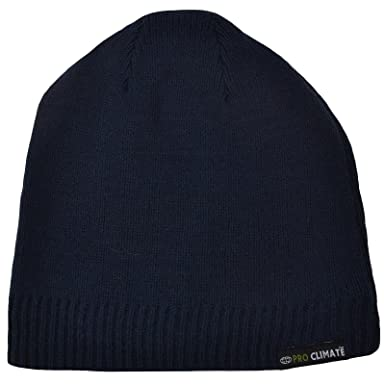 ec2908ee66b Proclimate Unisex Waterproof and Windproof Thinsulate Beanie Hat - Navy  M L