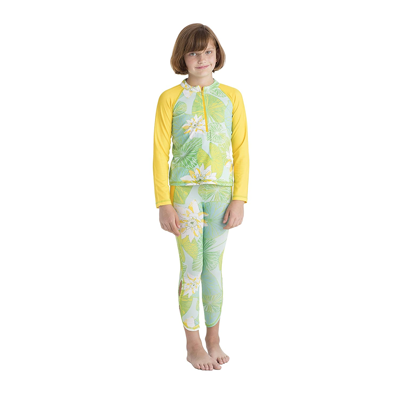 Masala Kids SWIMWEAR ガールズ B01MYTG7C2 3 Years|Lily Pond Green Lily Pond Green 3 Years
