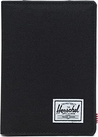 Herschel Supply Co. Men's Raynor RFID Passport Holder, Black, One Size