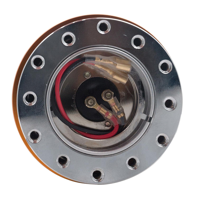 MASO Lenkrad-Naben Basis Adapter Boss Kit Schnellspanner Hub Adapter Rot 70mm//74mm