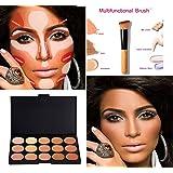 Kit Boolavard New 15 Palette Correcteur Couleurs avec Brush Maquillage Crème Contour