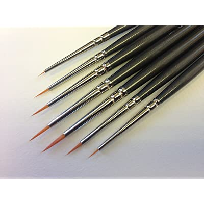 Modelmakers Miniature Set of 7 Ultra Fine Detail Brushes: Office Products