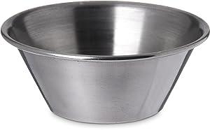 Carlisle 602400 Stainless Steel 18-8 Classic Ramekin, 1.5 oz Capacity, For Half-Size Food Pan (Case of 144)