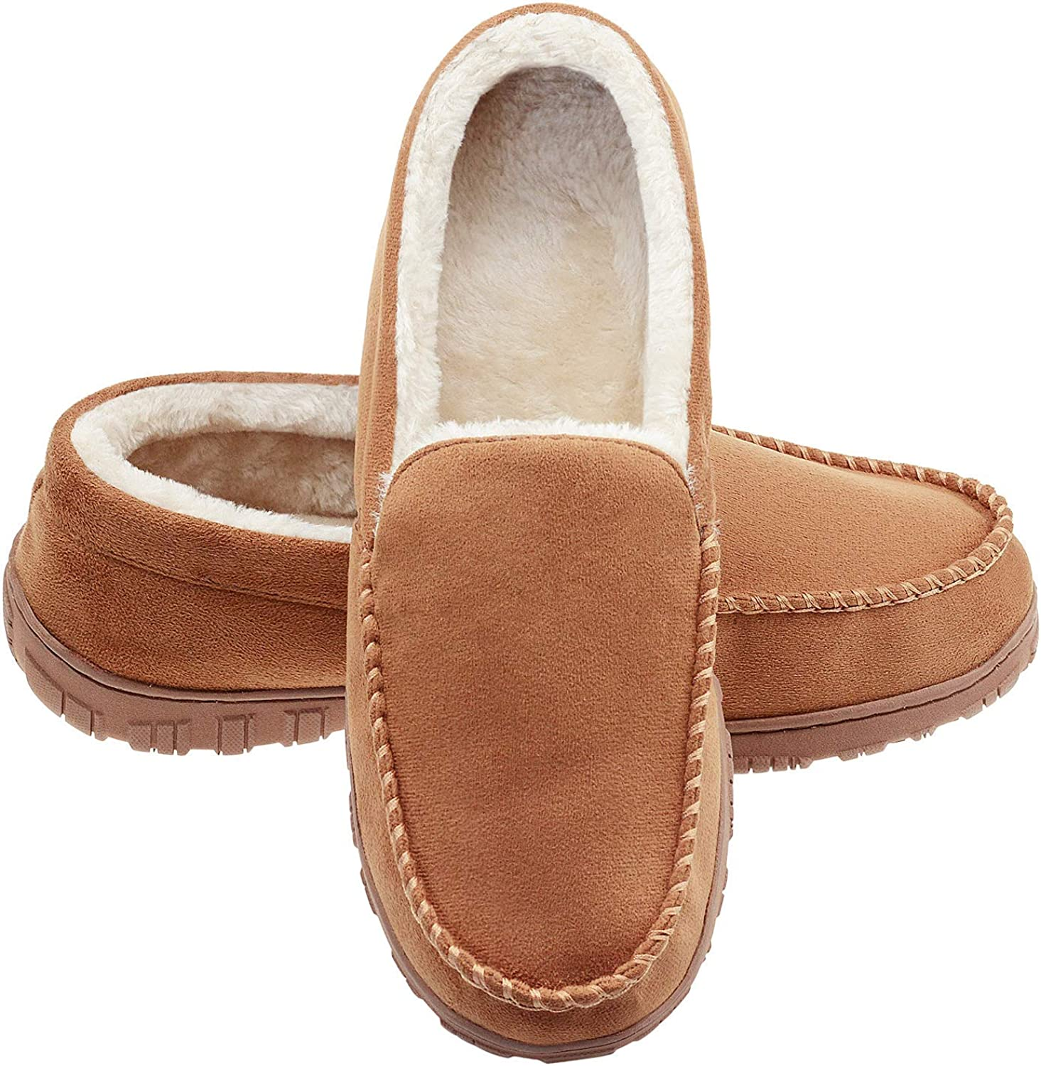 Mens Moccasins Slippers Adults Alfie Luxury Memory Foam Soft Fur Lined Slippers