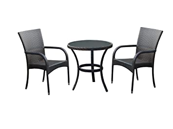 Dunloe Rattan Effect Indoor/ Outdoor Furniture Set includes Table ...