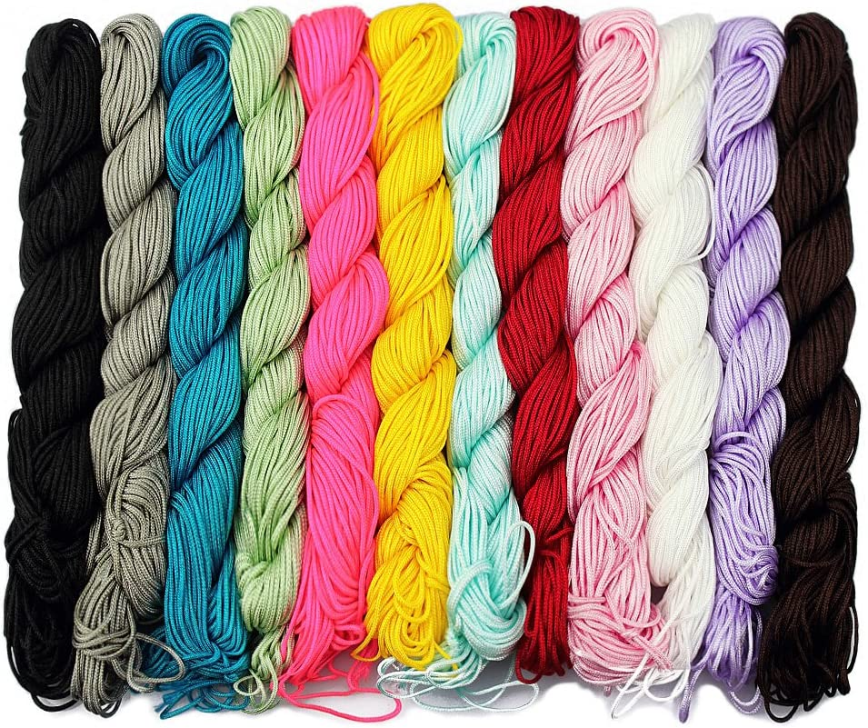 30m nylon thread//cord in various colors 1mm  for Shamballa Beads or jewel making