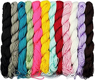 LolliBeads (TM) 12 Pcs of 80 Feet 1 mm Nylon Beading String or Knotting Cord, Assorted Multi Color