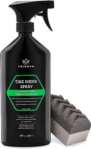 TriNova Tire Shine Spray No Wipe