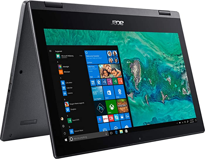 (Renewed) Acer Spin 1 SP111-33 Ultra Slim Touch 2-1 Laptop Intel Processor N4000 4GB 64GB SSD 11.6in HD LED Windows 10 in S Mode HDMI Webcam